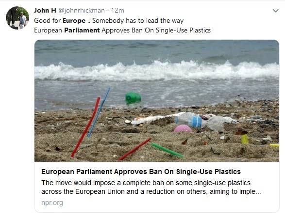 Parlemen Uni Eropa Mengesahkan Pelarangan 10 jenis Plastik Sekali Pakai A